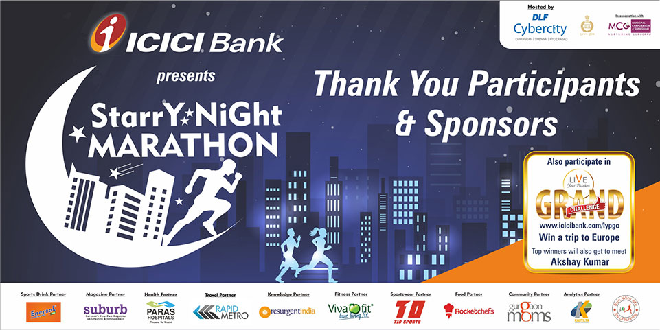 ICICI Bank Starry Night Marathon Gurgaon, Coach Ravinder Gurugram